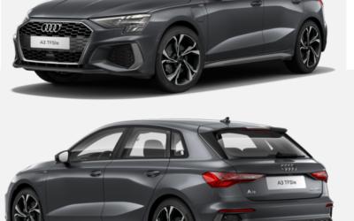 LLD Nouvelle Audi A3 TFSIe S-Line à 499€/mois